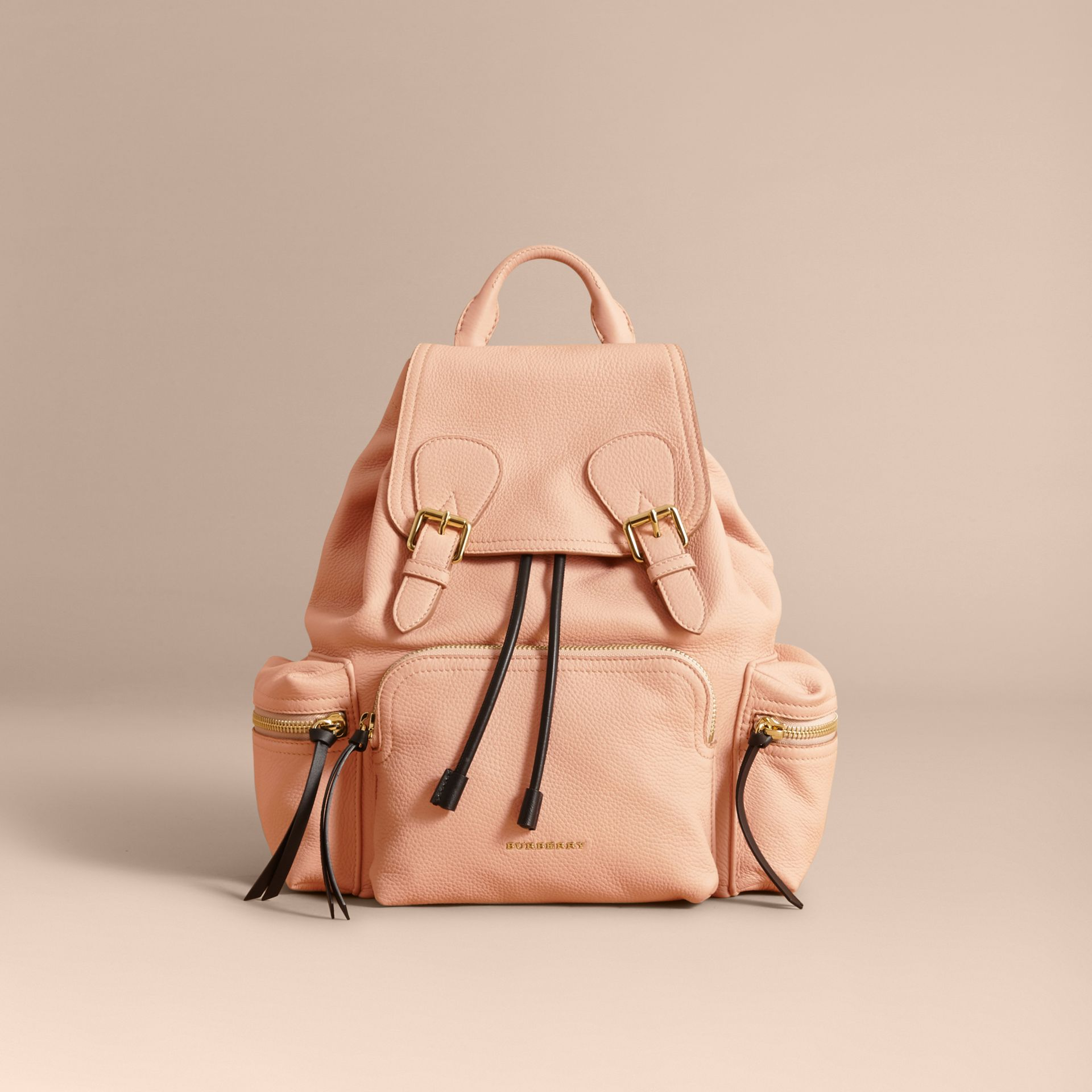 The Medium Rucksack in Deerskin with Resin Chain in Pale Apricot - Women | Burberry - gallery image 7