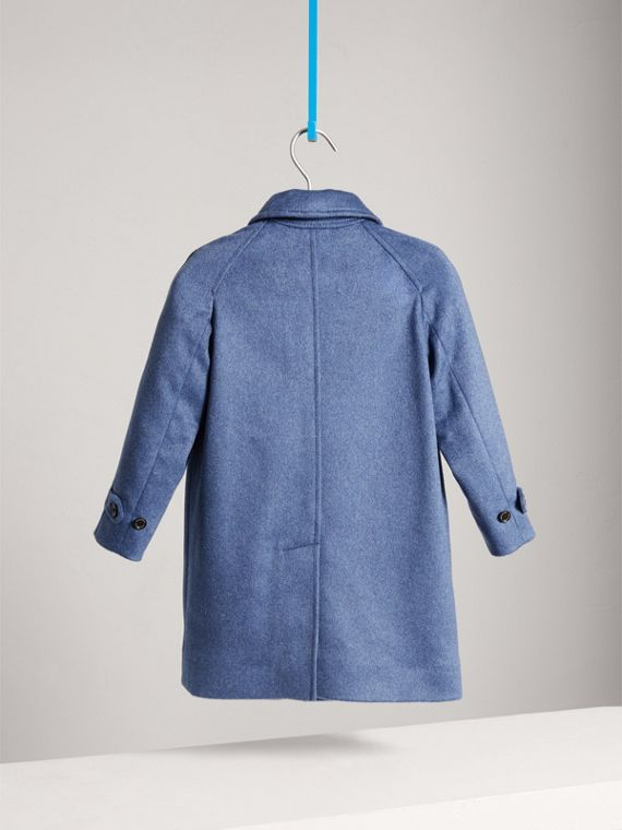 Cappotto car coat in cashmere (Blu Acciaio Mélange) - Bambino | Burberry - cell image 3