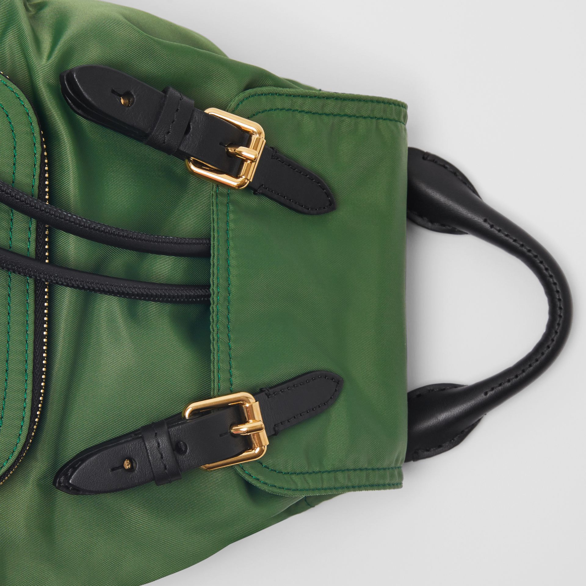 The Small Crossbody Rucksack in Nylon in Racing Green - Women | Burberry United Kingdom - gallery image 1