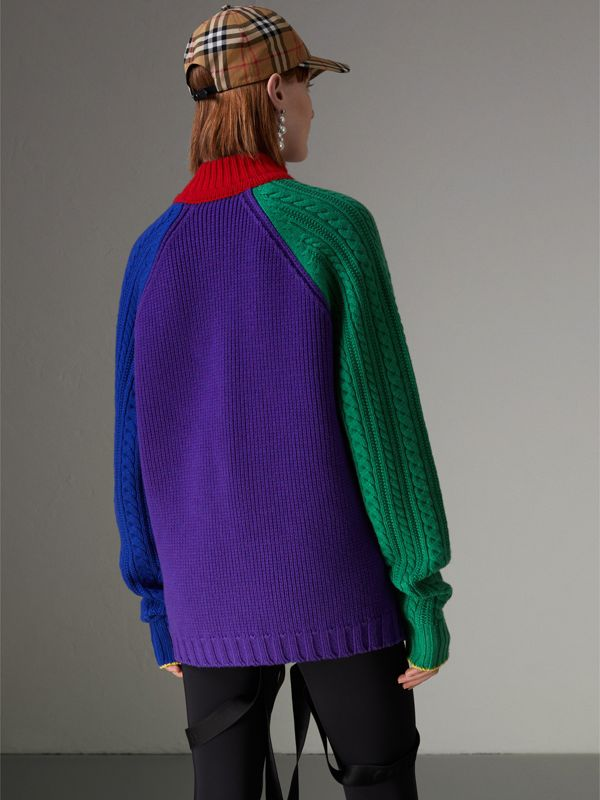 Rainbow Wool-cashmere Turtleneck Sweater in Multicolour - Women | Burberry Australia - cell image 2