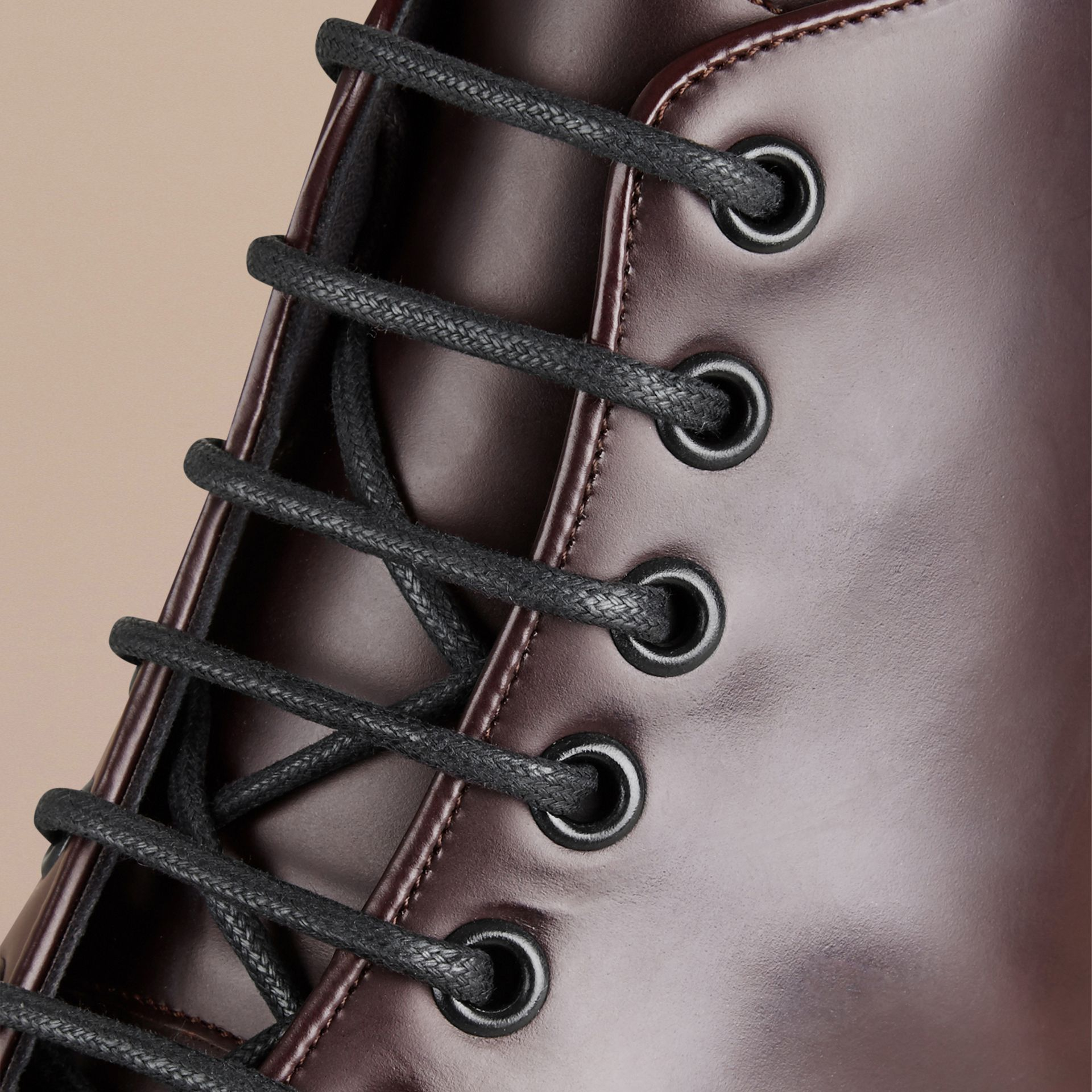Oxblood Lace-up Leather Boots Oxblood - gallery image 2