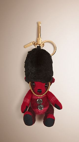 The Guardsman Thomas Bear Charm in Check Cashmere