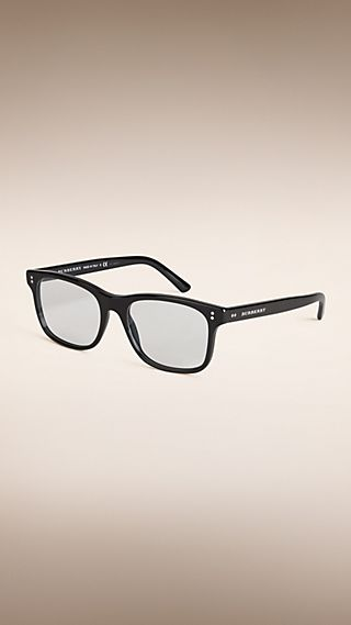 Square Frame Sunglasses with Clip-On Lenses