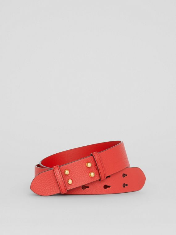 The Medium Belt Bag Grainy Leather Belt in Bright Crimson Pink