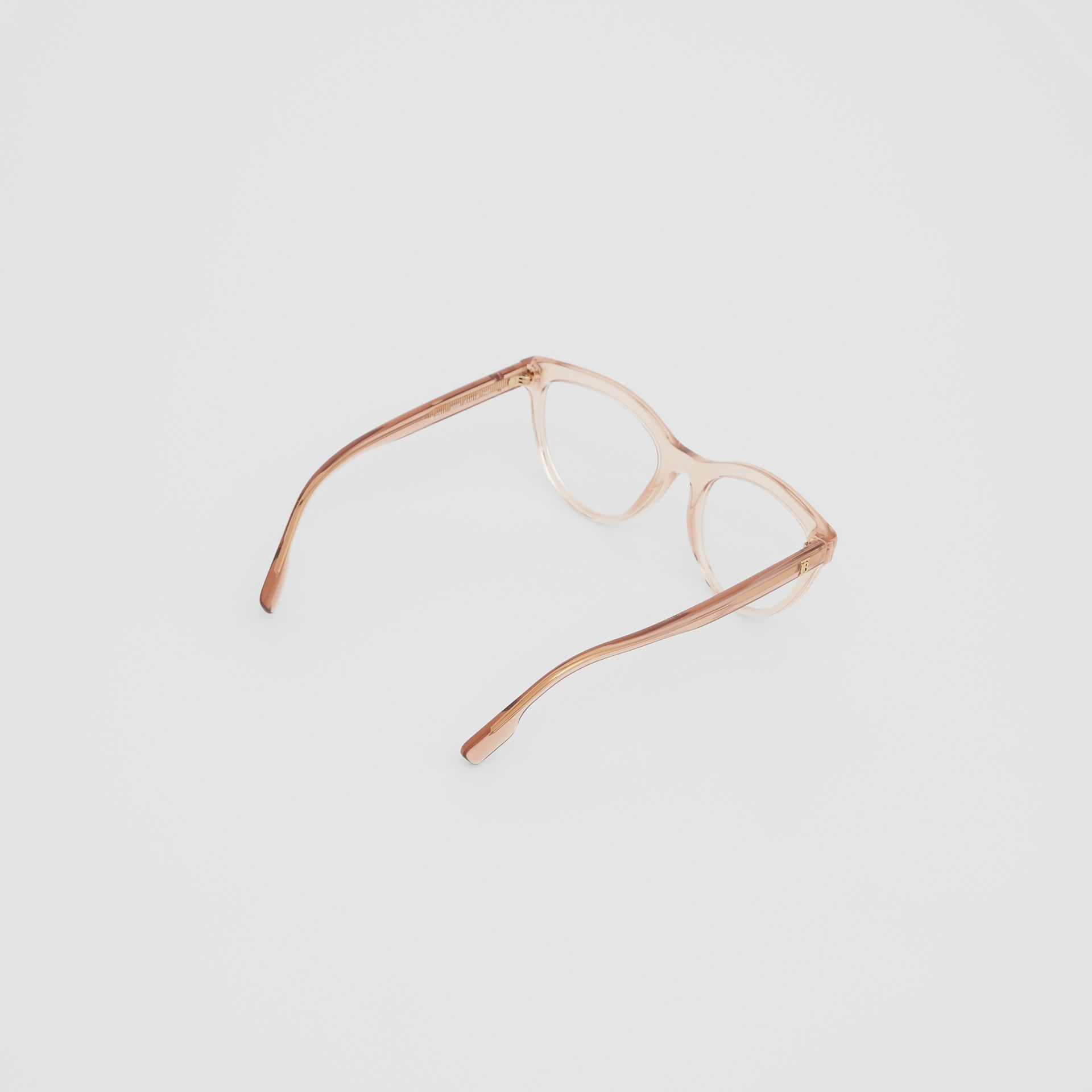 Monogram Motif Cat-eye Optical Frames in Transparent Peach - Women | Burberry United States - gallery image 4