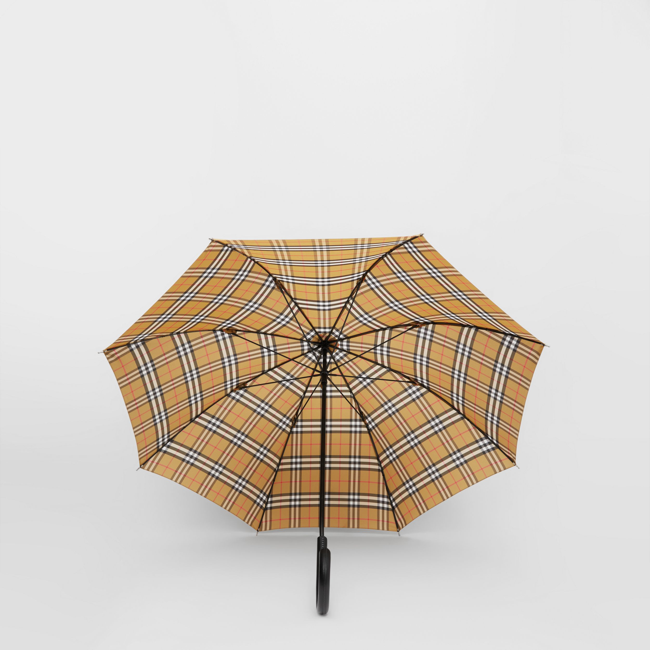 Vintage Check Folding Umbrella in Archive Beige | Burberry Canada - 3