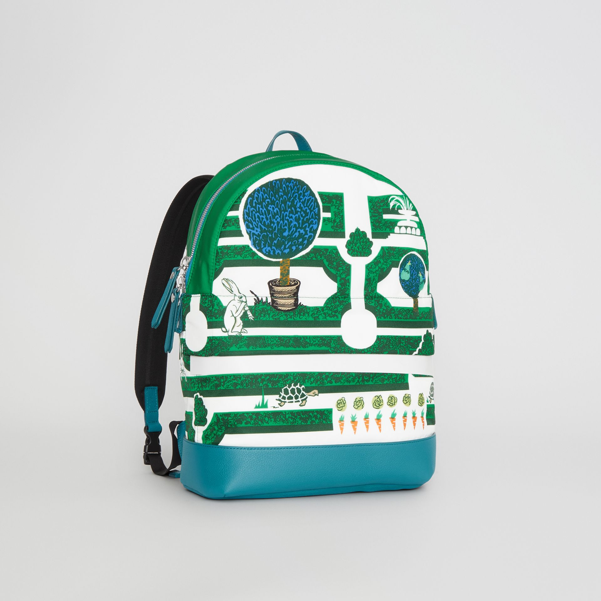 Hedge Maze Print Backpack in Bright Pigment Green - Children | Burberry - gallery image 4