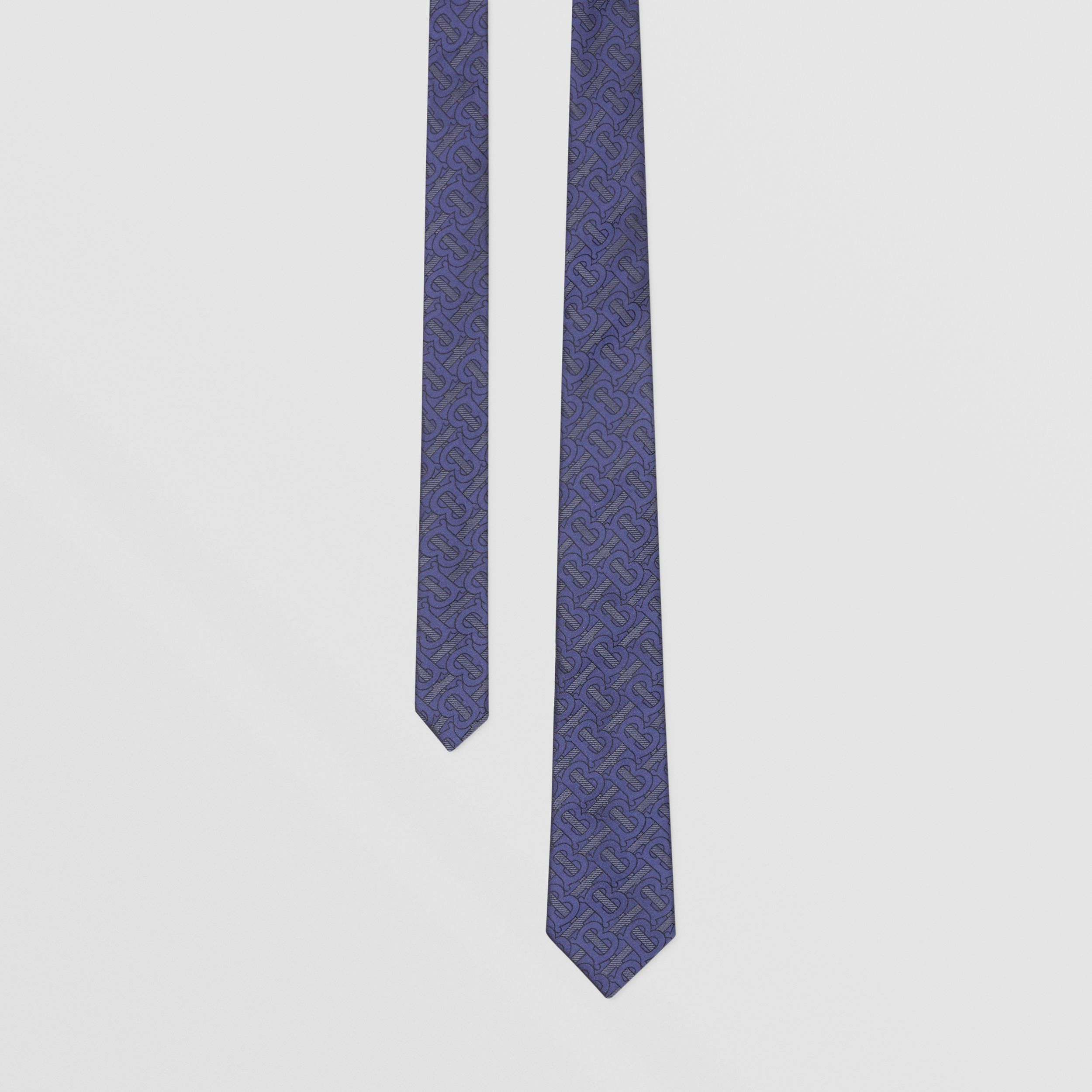 Classic Cut Monogram Silk Blend Jacquard Tie in Bright Indigo - Men | Burberry - 1