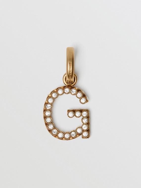 Crystal 'G' Alphabet Charm