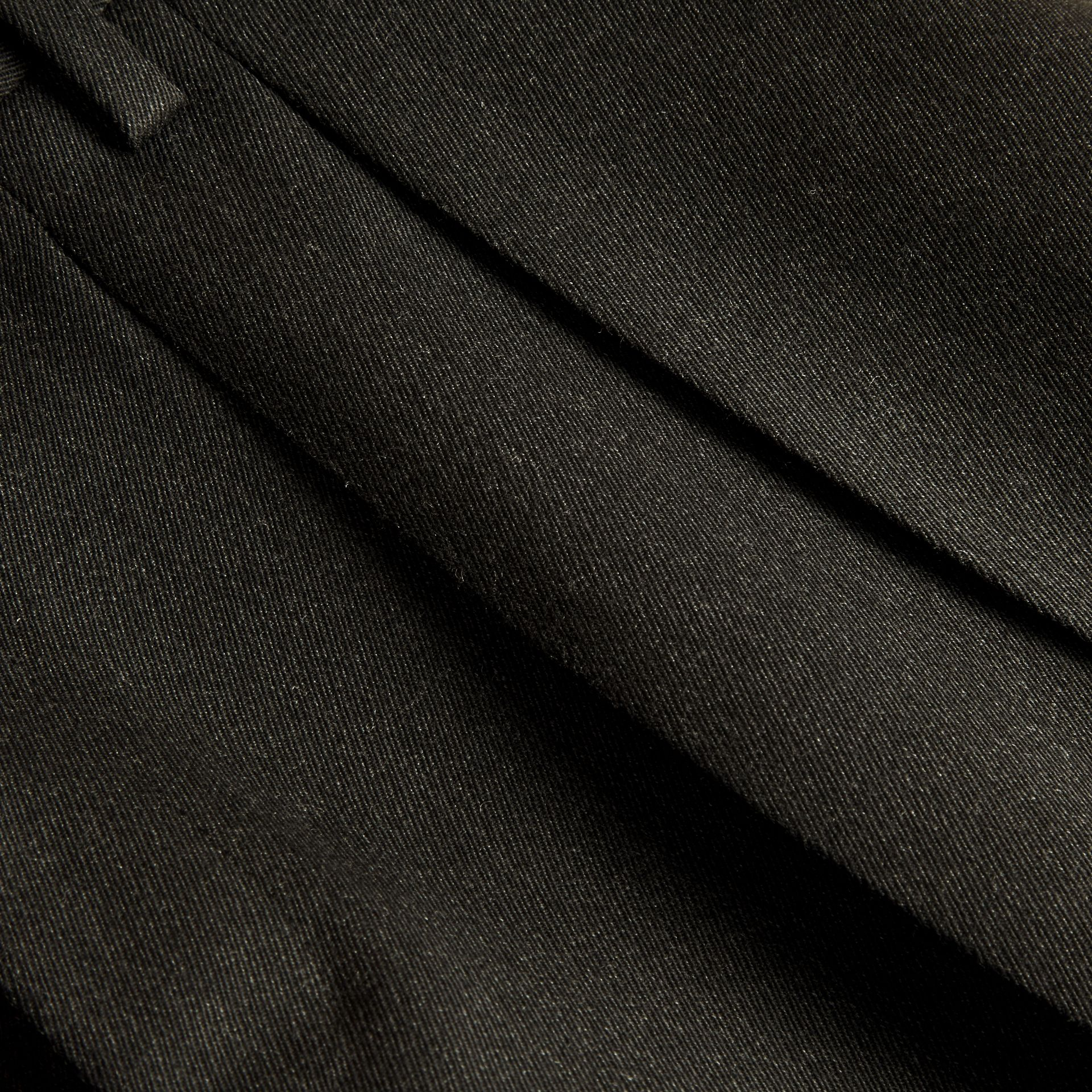 Dark grey melange Modern Fit English Wool Tailored Trousers Dark Grey Melange - gallery image 2