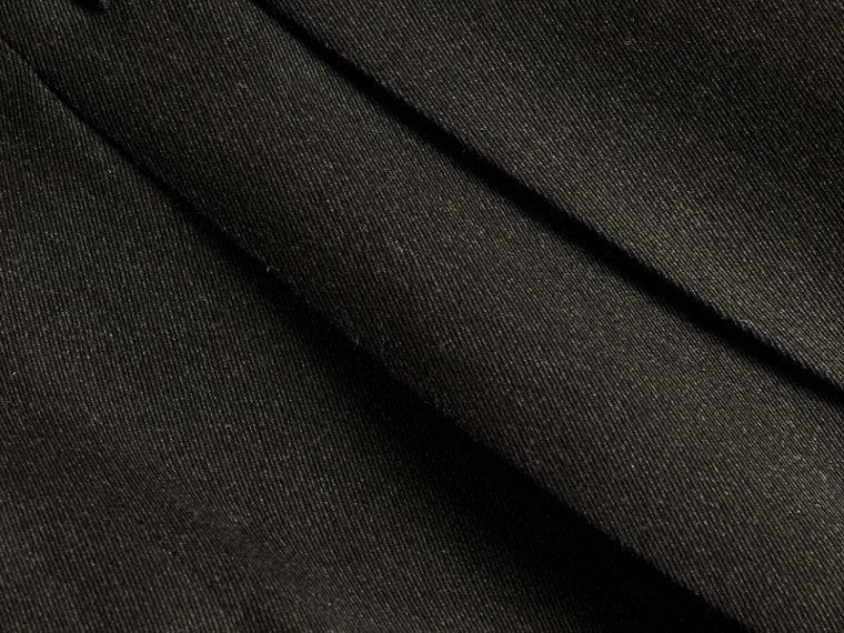 Dark grey melange Modern Fit English Wool Tailored Trousers Dark Grey Melange - cell image 1