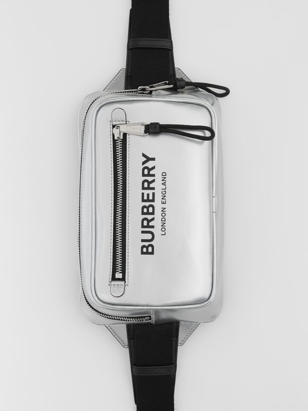 Metallic Coated Canvas Bum Bag in Silver - Men | Burberry - cell image 2