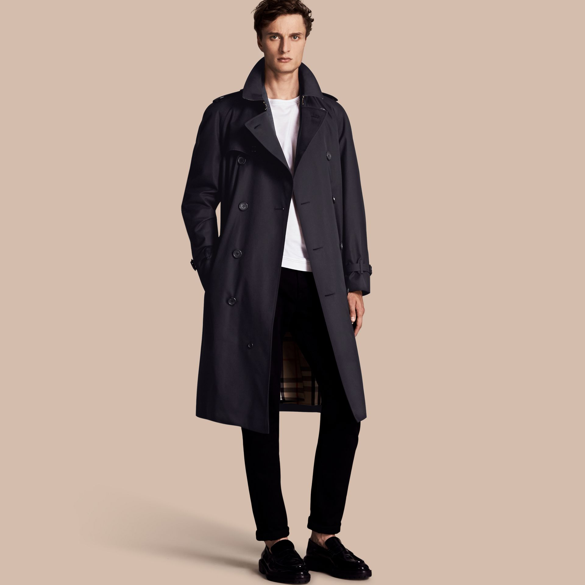Navy The Westminster – Long Heritage Trench Coat Navy - gallery image 1