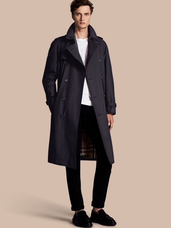 The Westminster - Trench coat Heritage longo Azul Marinho