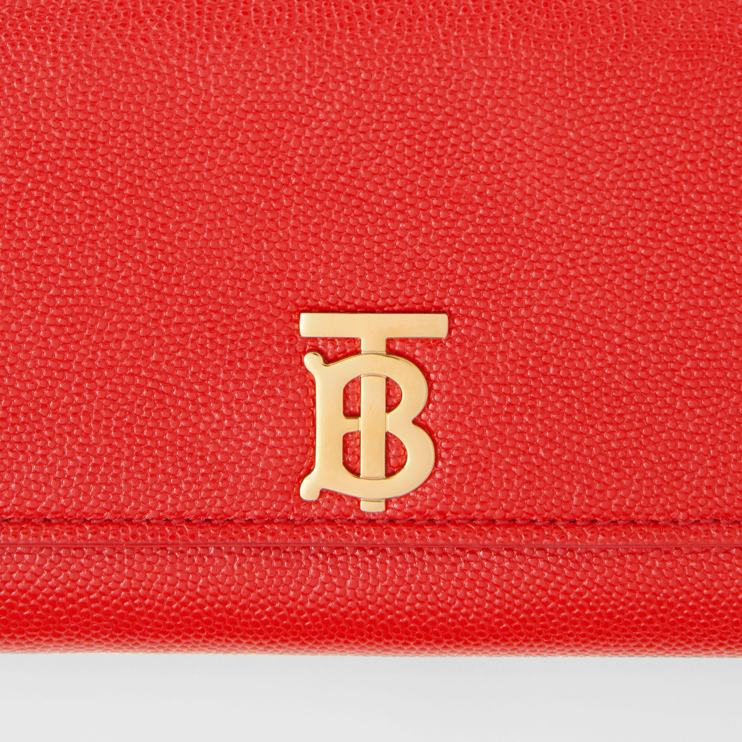 Monogram Motif Grainy Leather Continental Wallet in Bright Red - Women | Burberry United Kingdom - 2