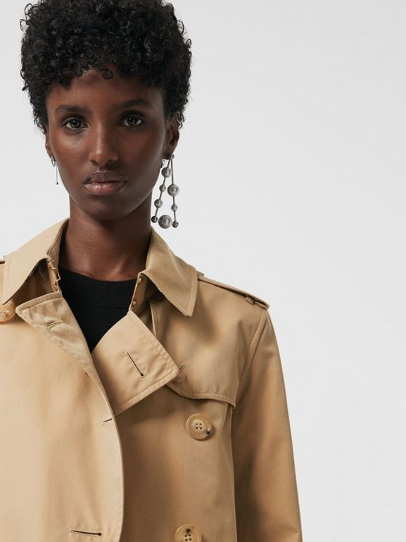 The Long Kensington Heritage Trench Coat in Honey - Women | Burberry United States - cell image 1