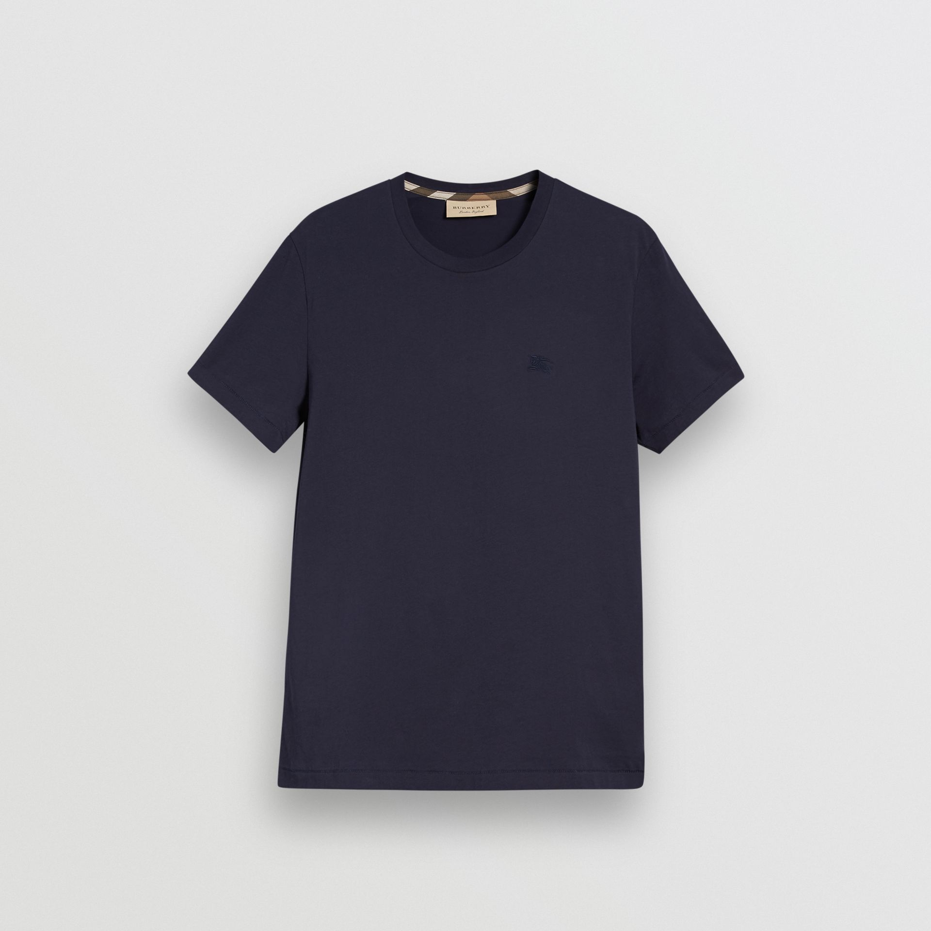 Cotton Jersey T-shirt in Navy - Men | Burberry Singapore - gallery image 3