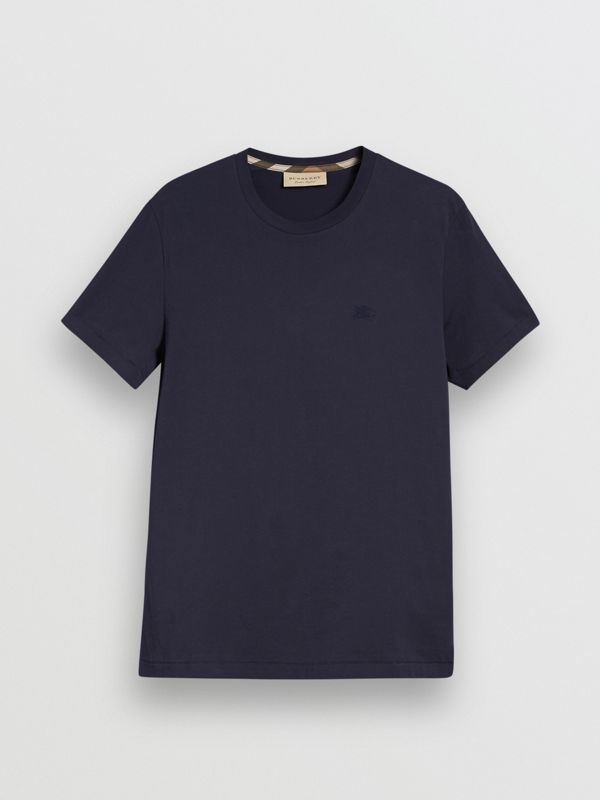 Cotton Jersey T-shirt in Navy - Men | Burberry United Kingdom - cell image 3