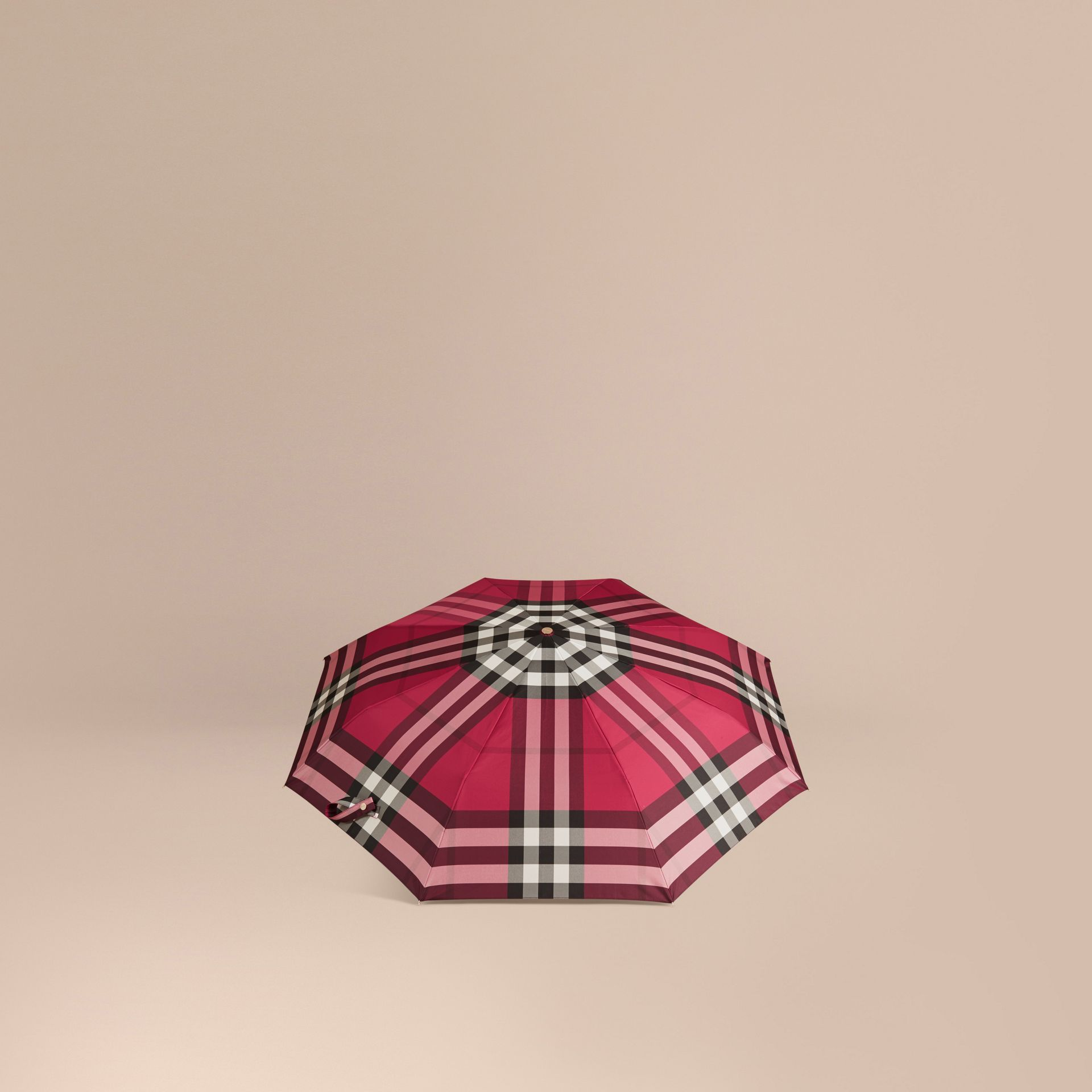 Fuchsia pink Check Folding Umbrella Fuchsia Pink - gallery image 4