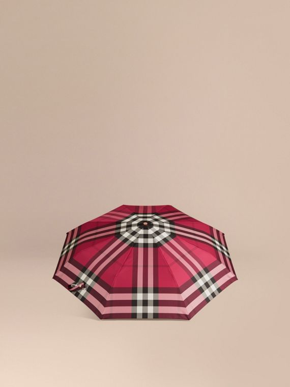 Fuchsia pink Check Folding Umbrella Fuchsia Pink - cell image 3