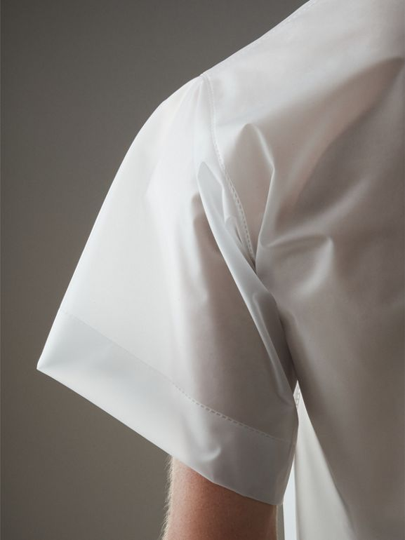 Soft-touch Plastic T-shirt in Transparent - Men | Burberry United Kingdom - cell image 1