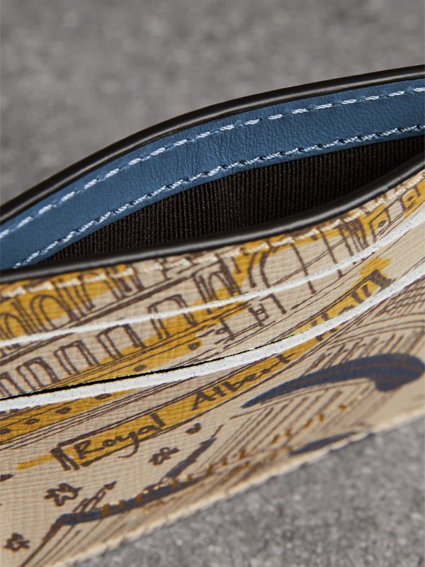 London Icons Print Leather Card Case in Multicolour | Burberry - cell image 3