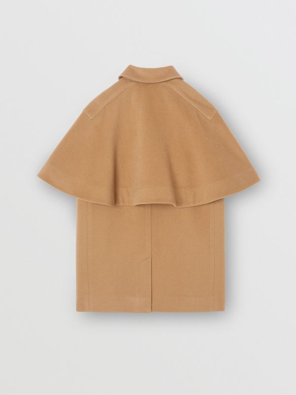 Cashmere Cape Coat in Dark Sand | Burberry Singapore - cell image 3