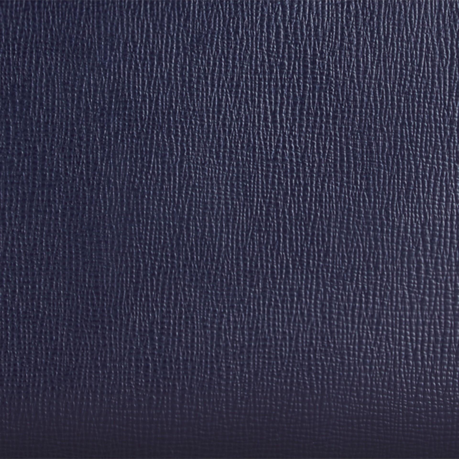 Navy scuro Portafoglio in pelle London con cerniera su tre lati Navy Scuro - immagine della galleria 2