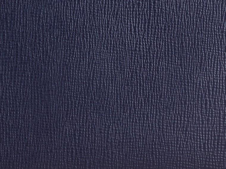 Navy scuro Portafoglio in pelle London con cerniera su tre lati Navy Scuro - cell image 1
