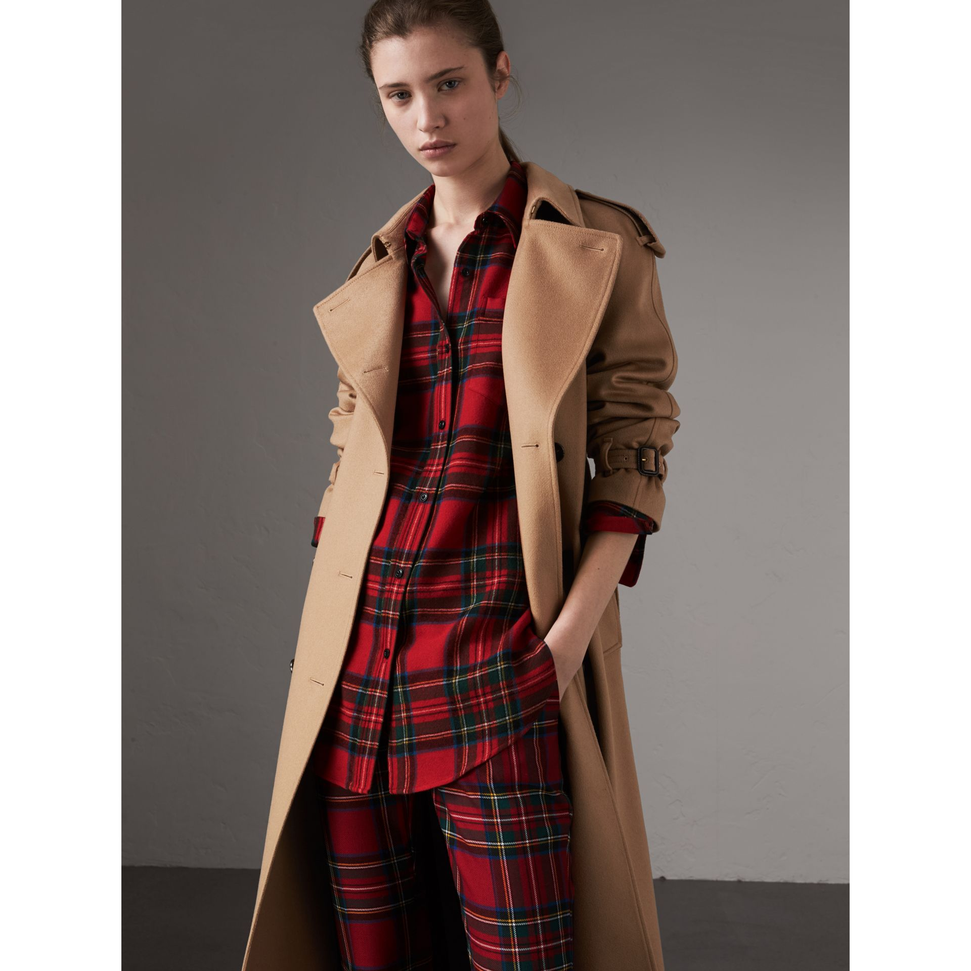 Cashmere Trench Coat in Camel - Women | Burberry Canada - gallery image 0