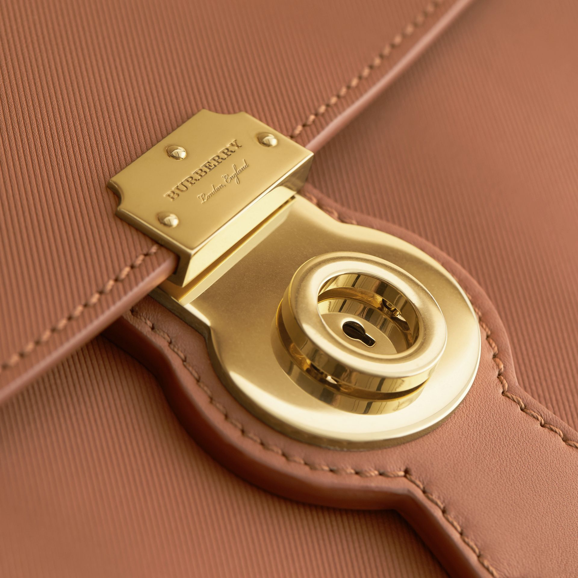 The Large DK88 Top Handle Bag in Bright Toffee - Women | Burberry - gallery image 2