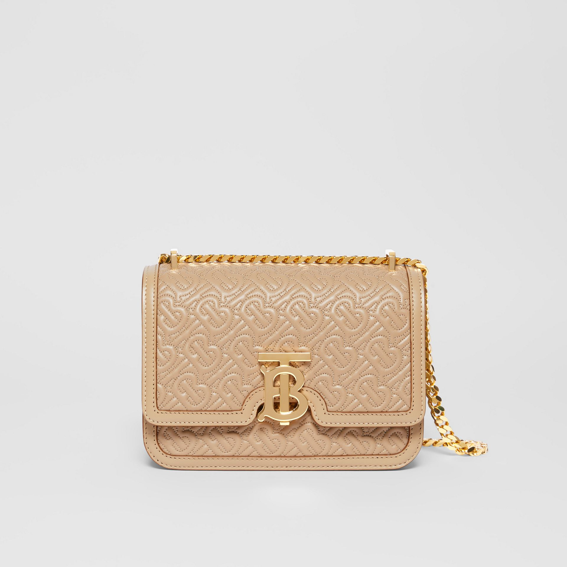 Small Quilted Monogram Lambskin TB Bag in Honey - Women | Burberry - gallery image 0
