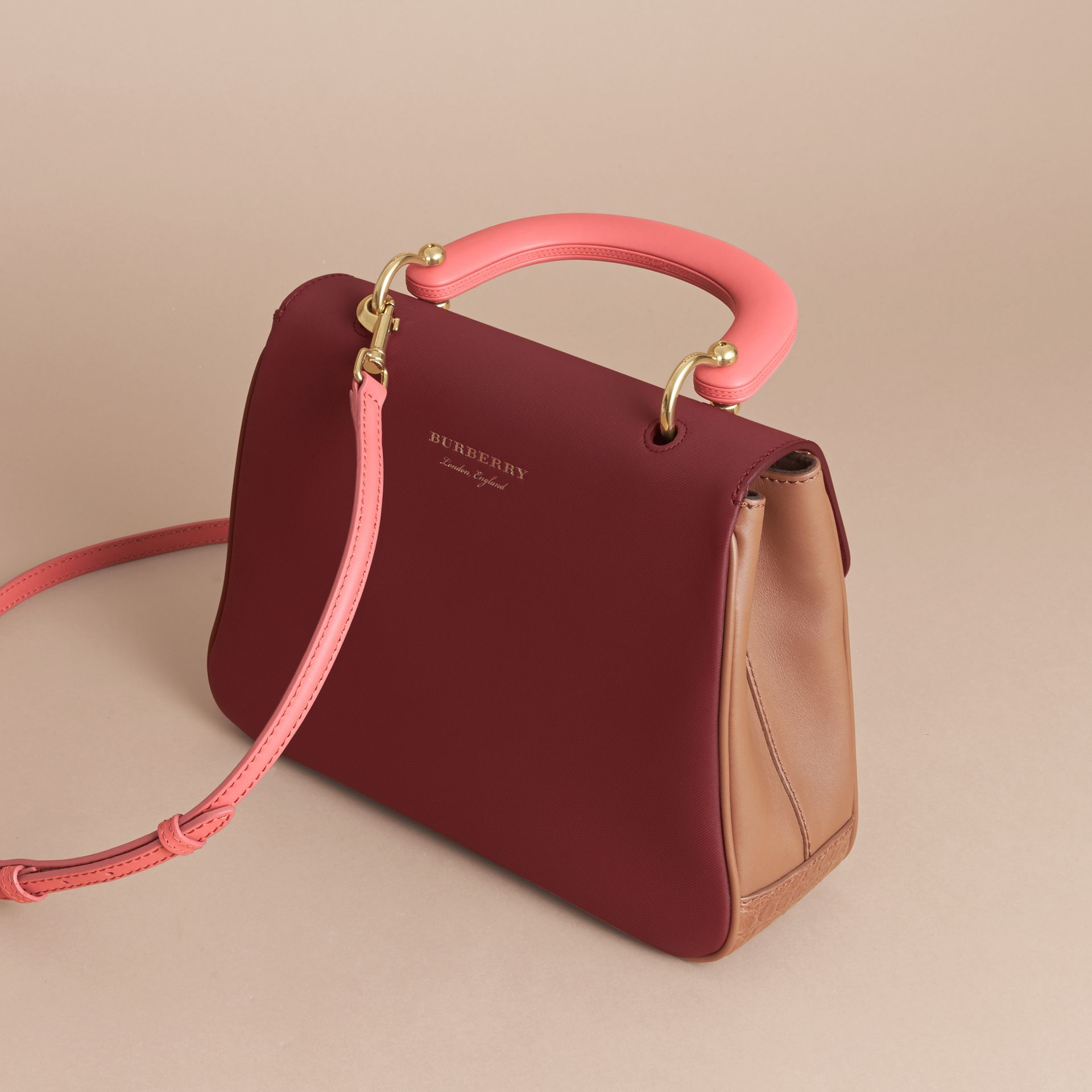 The Medium DK88 Top Handle Bag with Alligator in Tan/antique Red - Women | Burberry - gallery image 3