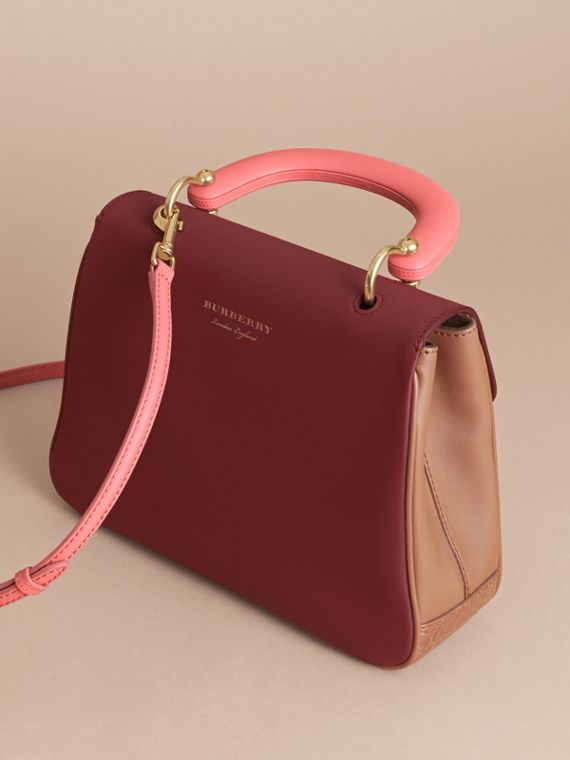 The Medium DK88 Top Handle Bag with Alligator in Tan/antique Red - Women | Burberry - cell image 3