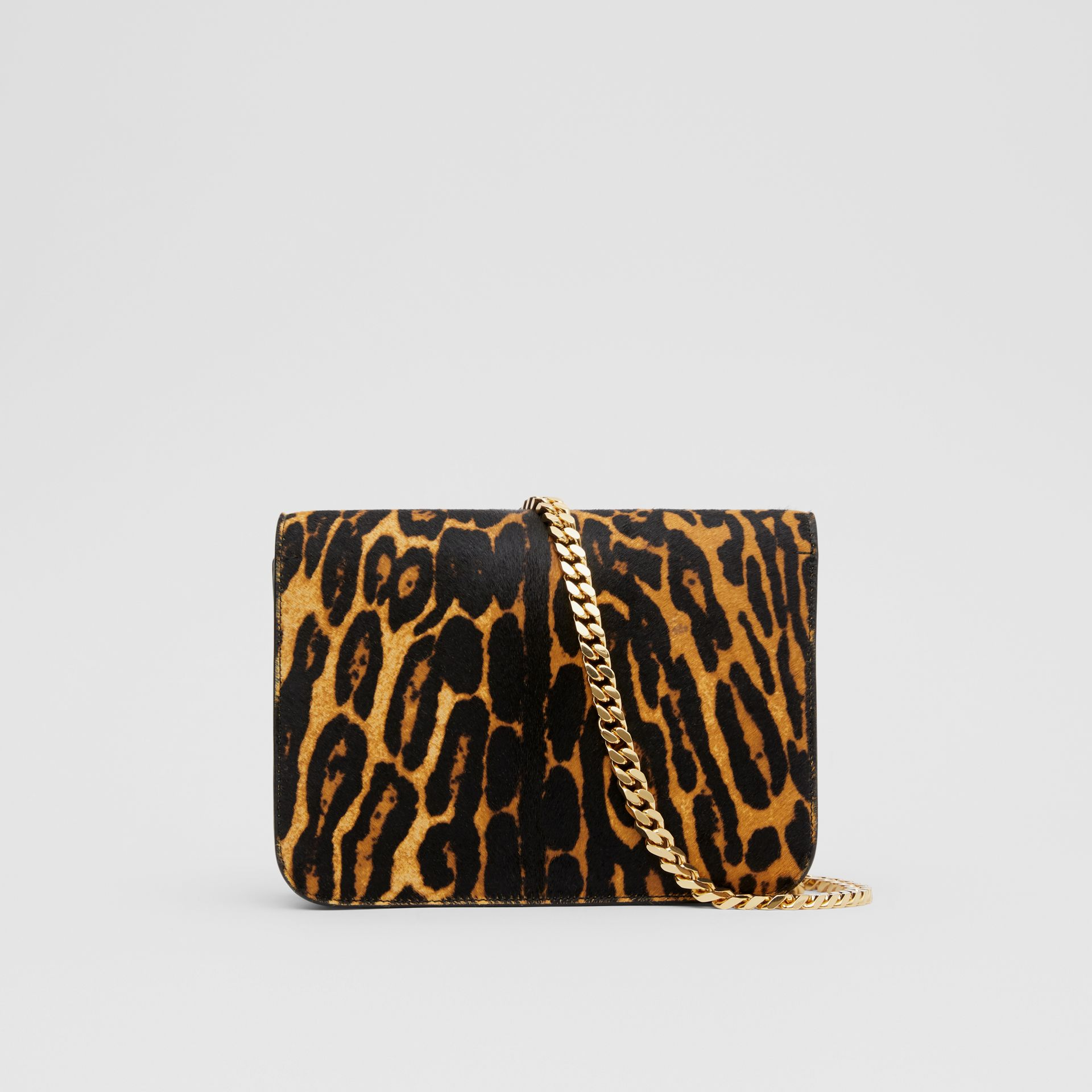 Small Leopard Print Calf Hair TB Bag in Dark Mustard - Women | Burberry Hong Kong S.A.R - gallery image 7