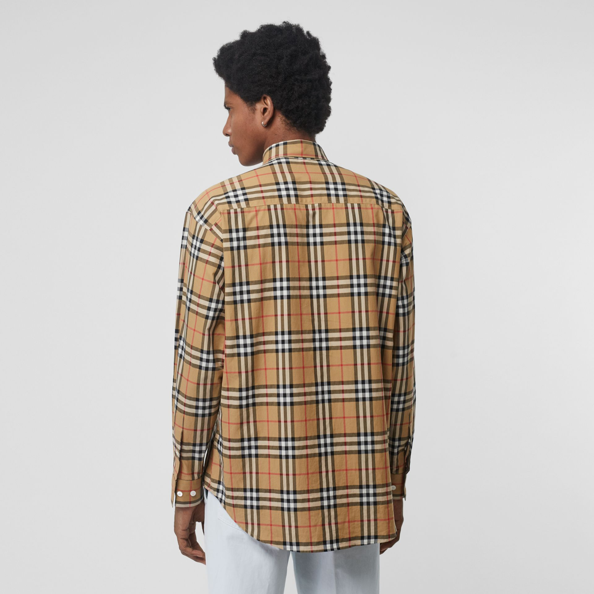 Button-down Collar Vintage Check Cotton Shirt in Antique Yellow - Men | Burberry - gallery image 2