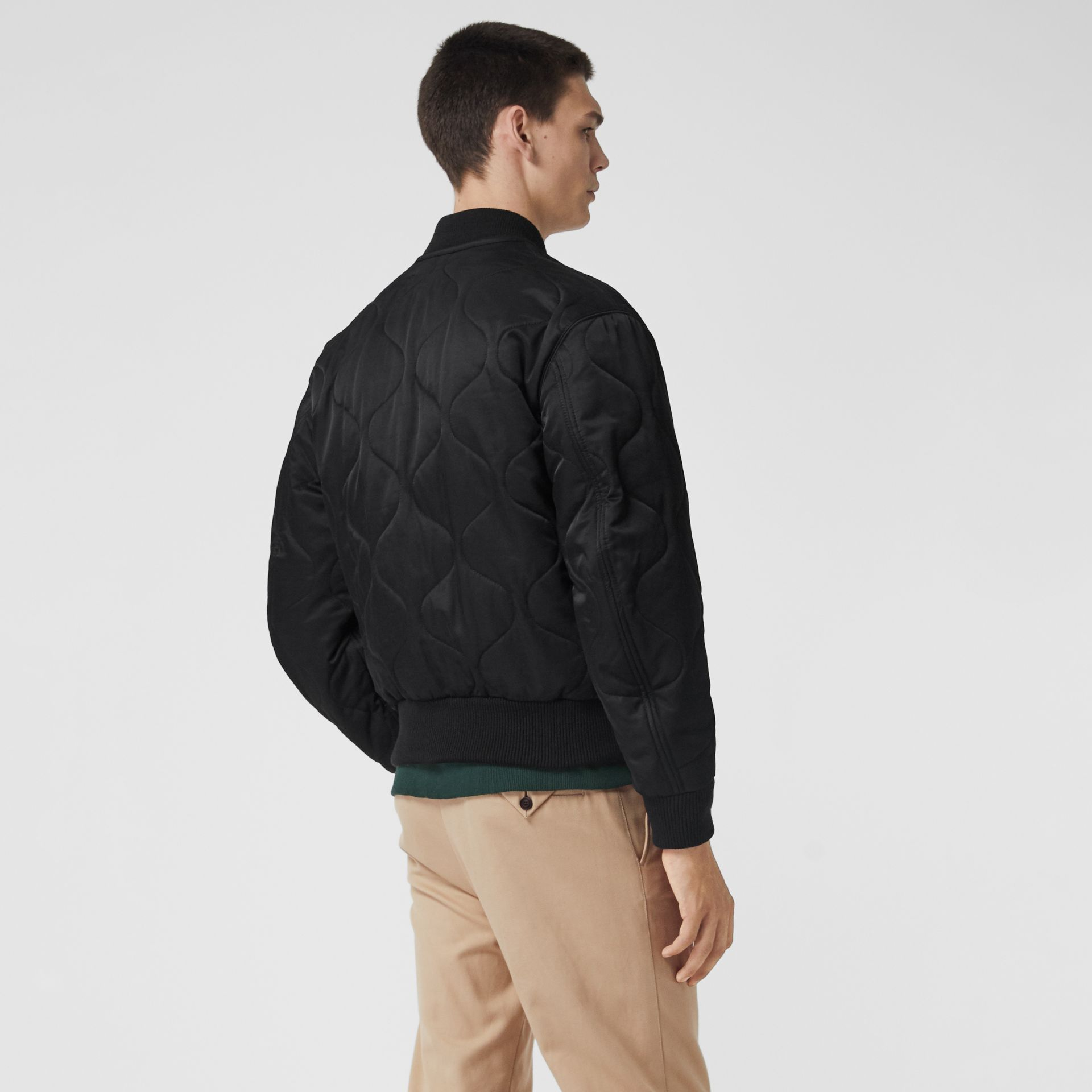 Quilted Bomber Jacket in Black - Men | Burberry - gallery image 2
