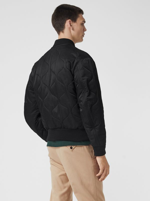 Quilted Bomber Jacket in Black - Men | Burberry Hong Kong - cell image 2