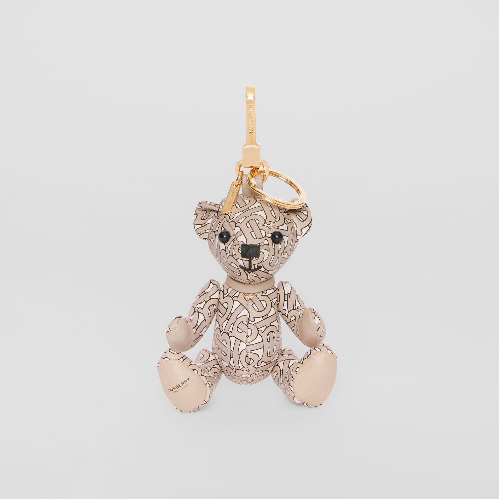 Thomas Bear Charm in Monogram Print Leather in Beige - Women | Burberry - gallery image 2