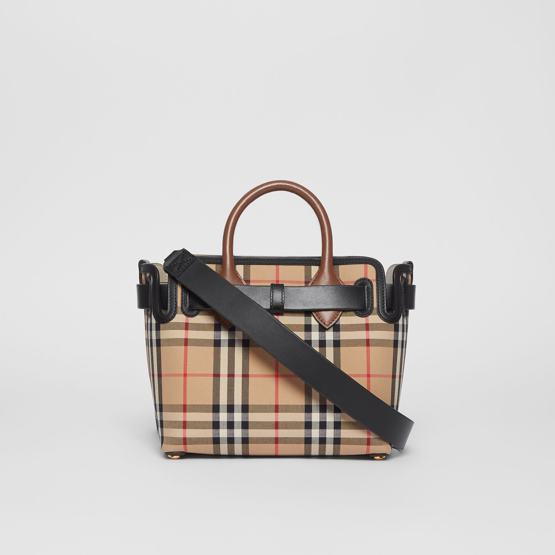 The Mini Vintage Check Triple Stud Belt Bag in Archive Beige - Women | Burberry Australia - gallery image 7