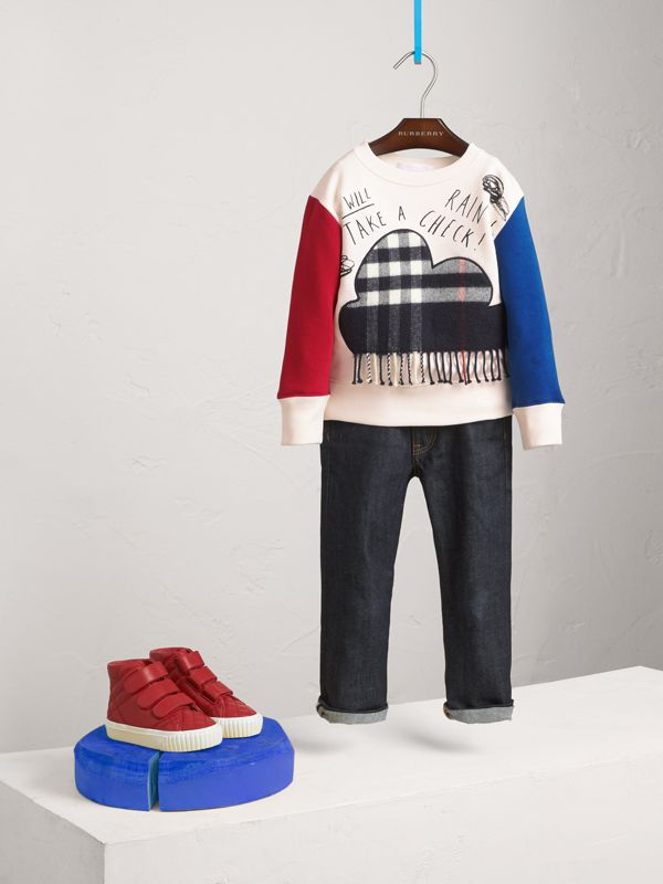 Weather Motif Cotton Sweatshirt in Navy | Burberry - cell image 2
