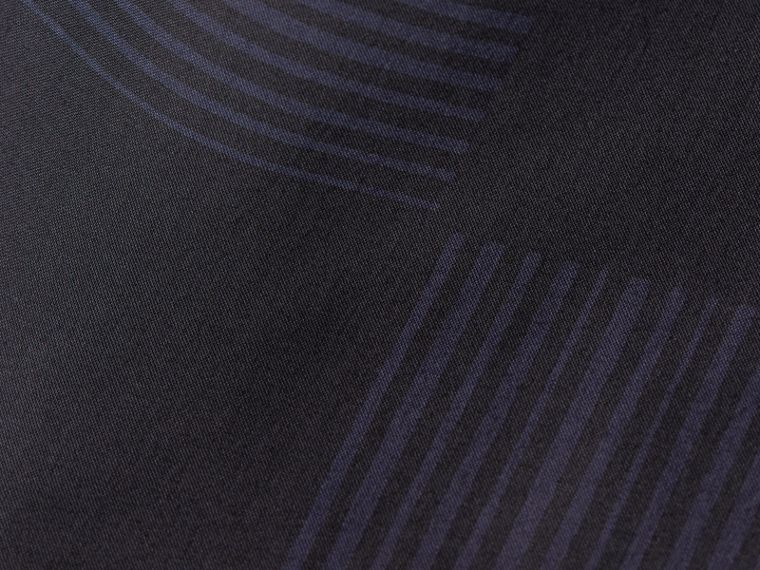 Azul marinho Camisa de algodão com estampa xadrez Azul Marinho - cell image 1
