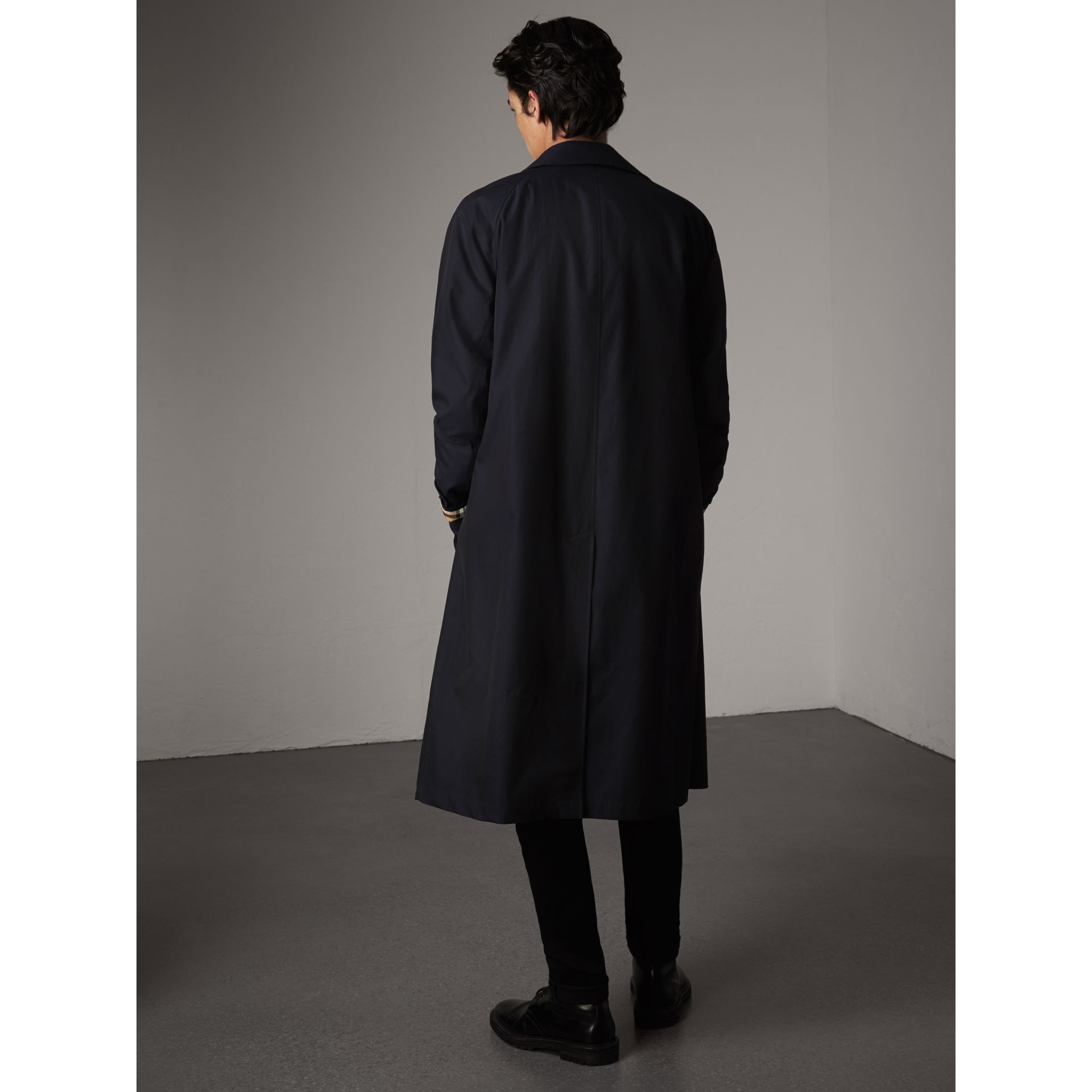 The Brighton – Longline Car Coat in Blue Carbon - Men | Burberry - gallery image 3