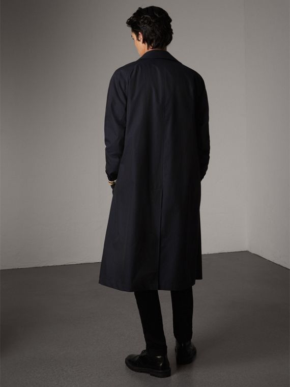 The Brighton – Longline Car Coat in Blue Carbon - Men | Burberry - cell image 2