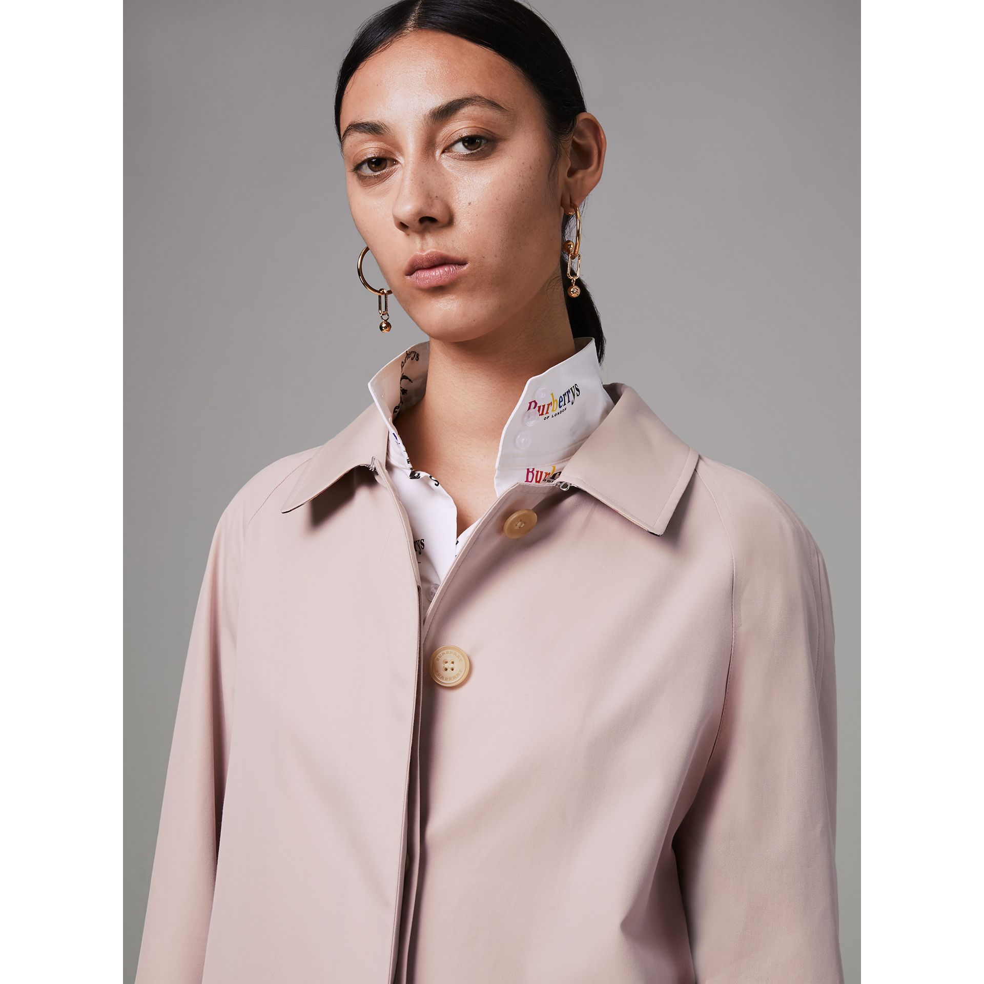 The Camden Car Coat in Ice Pink - Women | Burberry - gallery image 1
