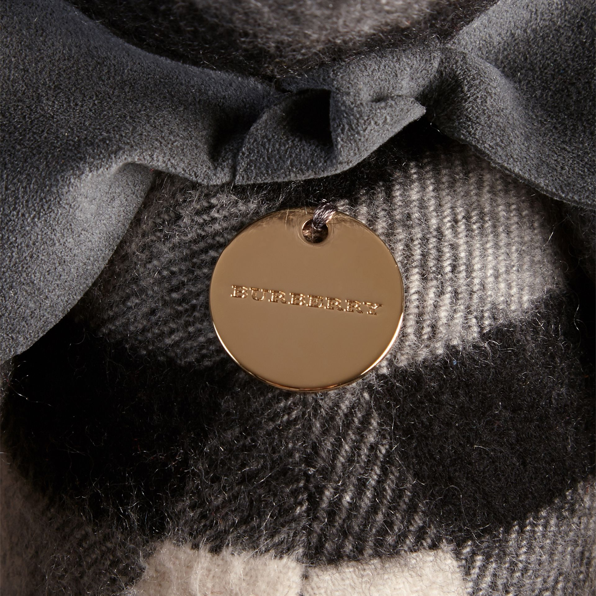 Thomas Bear in Check Cashmere in Mid Grey | Burberry United Kingdom - gallery image 1