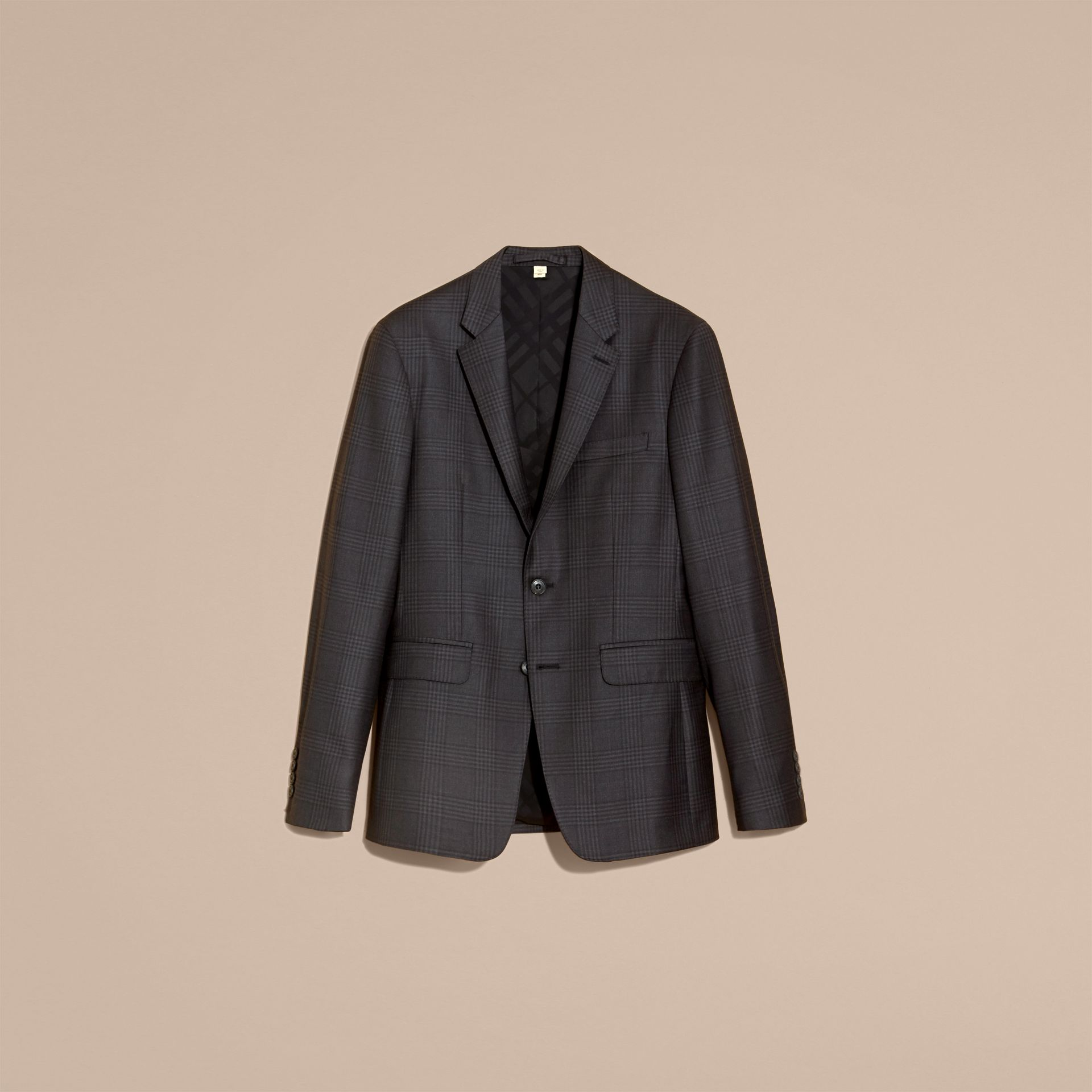 Slim Fit Travel Tailoring Prince of Wales Check Wool Suit - gallery image 4