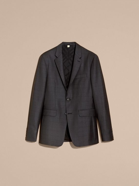 Slim Fit Travel Tailoring Prince of Wales Check Wool Suit - cell image 3