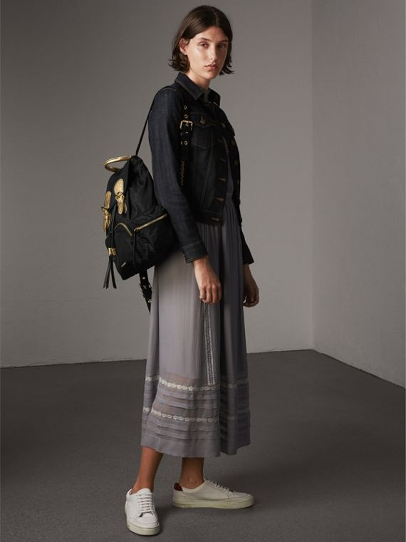 Sac The Rucksack moyen en nylon bicolore et cuir (Noir/or) - Femme | Burberry - cell image 2