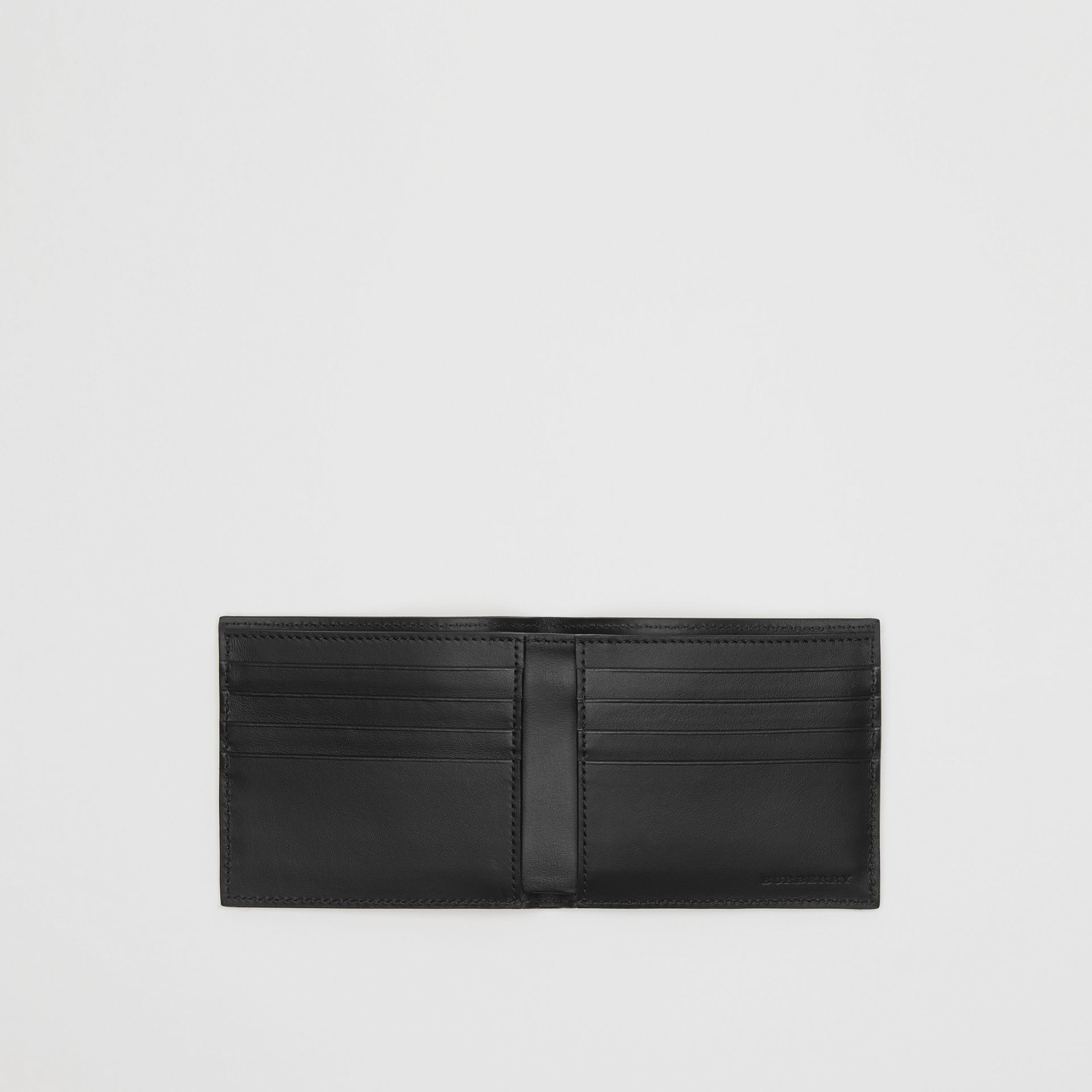 Vintage Check International Bifold Wallet in Black - Men | Burberry Australia - gallery image 3